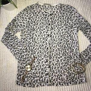 LOFT medium leopard print soft comfy sweater